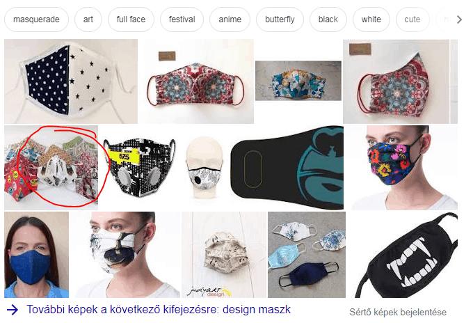 design maszk keresőben