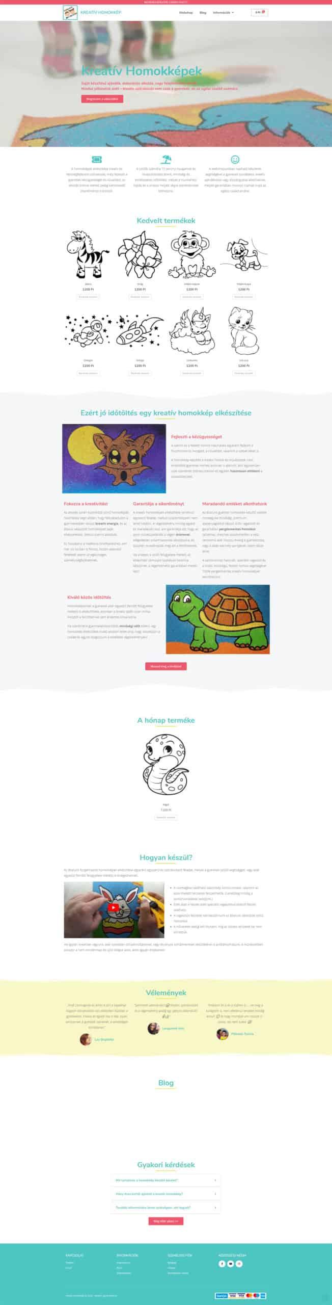 kreativhomokkep.hu portfolio