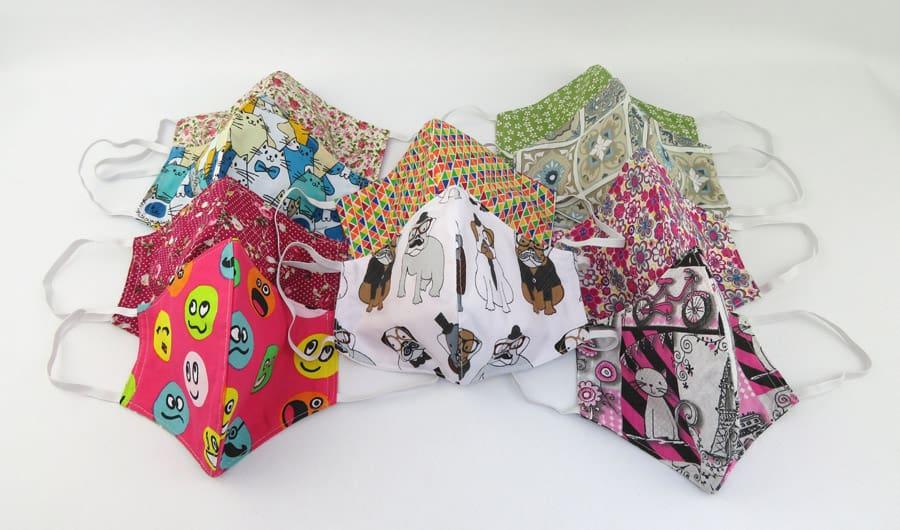 Monimi textil maszkok